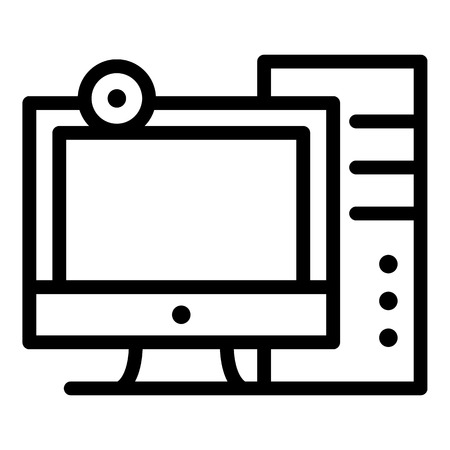 Personal computer icon. Outline personal computer icon for web design isolated on white background Reklamní fotografie - 123149571
