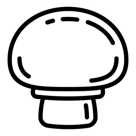 Champignon front view icon. Outline champignon front view icon for web design isolated on white background