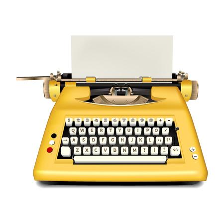Icono de máquina de escribir retro. Ilustración realista del icono de máquina de escribir retro para diseño web aislado sobre fondo blanco.