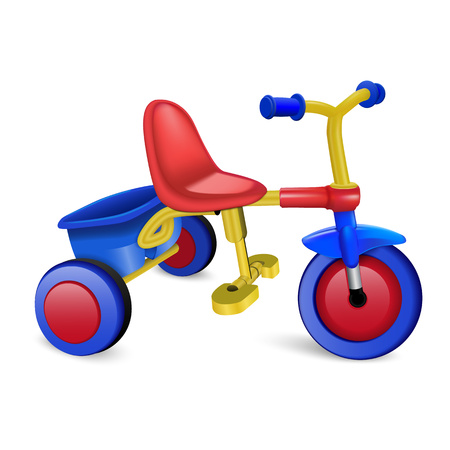 Tricycle icon. Realistic illustration of tricycle icon for web design isolated on white background Stock Photo