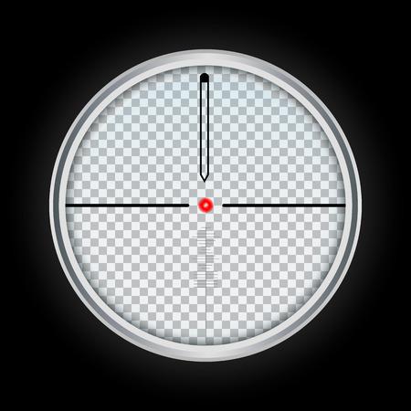 Weapon crosshair icon. Realistic illustration of weapon crosshair icon for web design isolated on white background Banco de Imagens