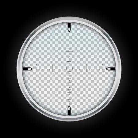 Sniper crosshair icon. Realistic illustration of sniper crosshair icon for web design isolated on white background