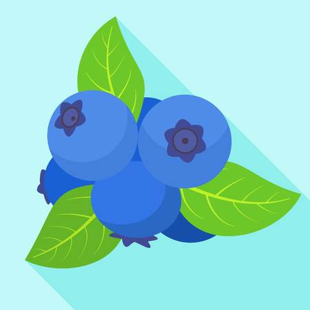 Ripe bilberry icon. Flat illustration of ripe bilberry icon for web design