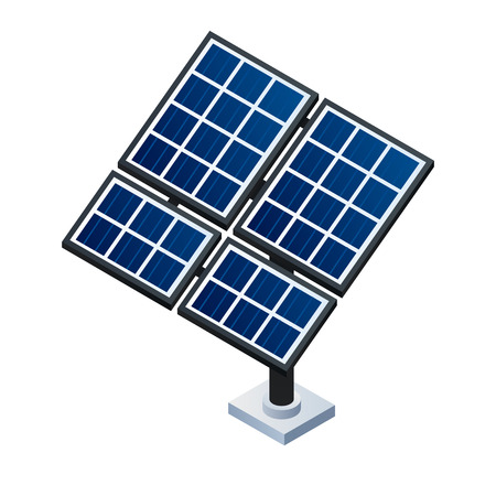 Solar panel icon. Isometric of solar panel icon for web design isolated on white background Archivio Fotografico - 123154446
