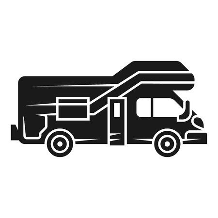 Modern motorhome icon. Simple illustration of modern motorhome icon for web design isolated on white background