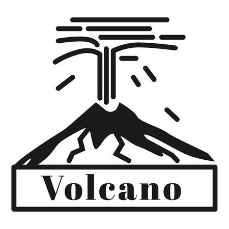 Logotipo de la erupción del gran volcán. Ilustración simple del logotipo de la erupción del gran volcán para diseño web aislado sobre fondo blanco.