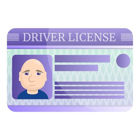 Driver license icon. Cartoon of driver license icon for web design isolated on white background