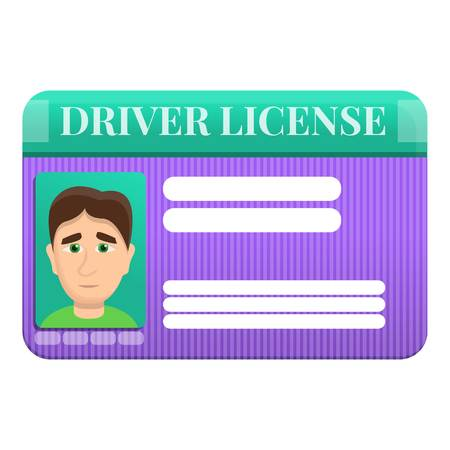 Driver license right icon. Cartoon of driver license right icon for web design isolated on white background Imagens