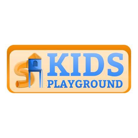 Kids playground tunnel logo. Cartoon of kids playground tunnel logo for web design isolated on white background