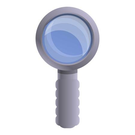 Police magnify glass icon. Cartoon of police magnify glass icon for web design isolated on white background