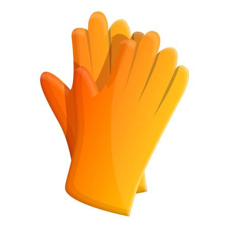 Cleaning rubber gloves icon. Cartoon of cleaning rubber gloves icon for web design isolated on white background