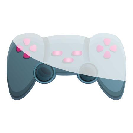 Console joystick icon. Cartoon of console joystick icon for web design isolated on white background