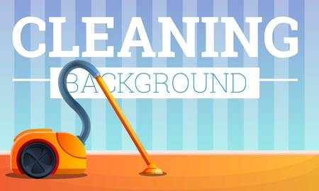 House cleaning concept banner. Cartoon illustration of house cleaning concept banner for web design Stock Photo
