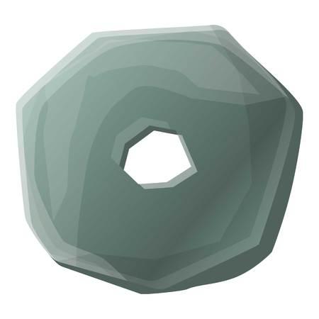 Stone age wheel icon. Cartoon of stone age wheel icon for web design isolated on white background