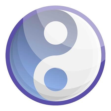 Ying yang icon. Cartoon of ying yang icon for web design isolated on white background