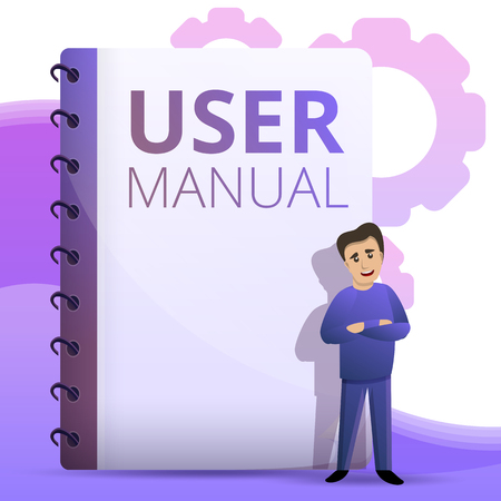 User guide concept background. Cartoon illustration of user guide concept background for web design