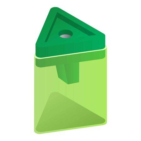 Triangular sharpener icon. Isometric of triangular sharpener vector icon for web design isolated on white background
