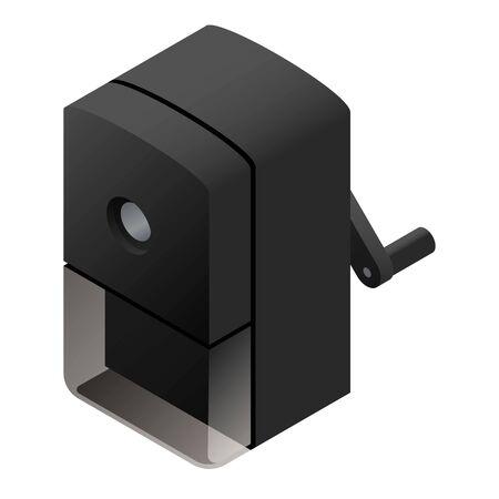 Office sharpener icon. Isometric of office sharpener vector icon for web design isolated on white background Ilustração Vetorial