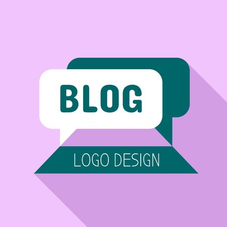 Blog logo. Flat illustration of blog vector logo for web design
