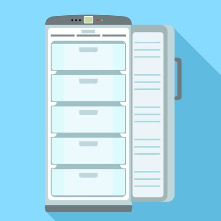 Home freezer icon. Flat illustration of home freezer vector icon for web design