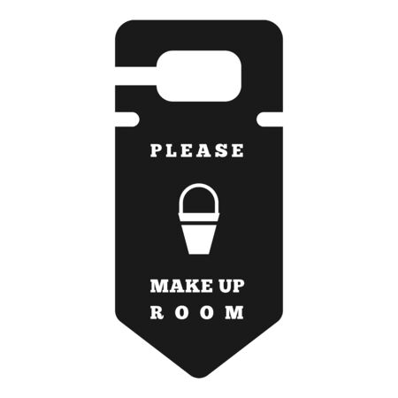 Make up room tag icon. Simple illustration of make up room tag vector icon for web design isolated on white background