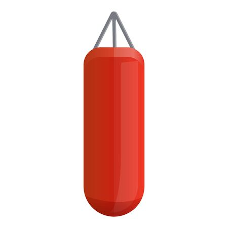 Boxing punch bag icon. Cartoon of boxing punch bag vector icon for web design isolated on white background Illustration