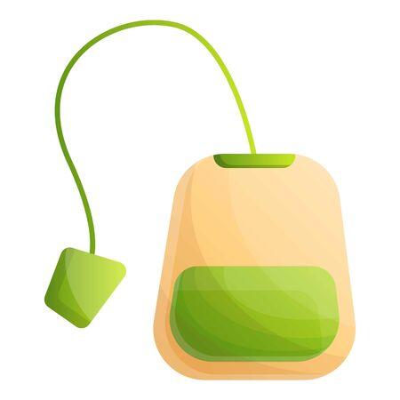 Matcha tea bag icon. Cartoon of matcha tea bag vector icon for web design isolated on white background Stock Vector - 124579153