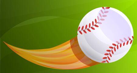 Baseball fireball concept banner. Cartoon illustration of baseball fireball vector concept banner for web design