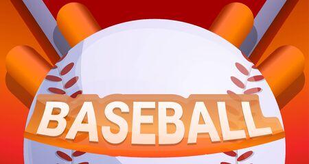 Baseball concept banner. Cartoon illustration of baseball vector concept banner for web design