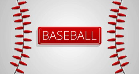 Baseball sport concept banner. Cartoon illustration of baseball sport vector concept banner for web design Banque d'images - 124579163