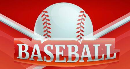 Baseball fire sport concept banner. Cartoon illustration of baseball fire sport vector concept banner for web design Illustration