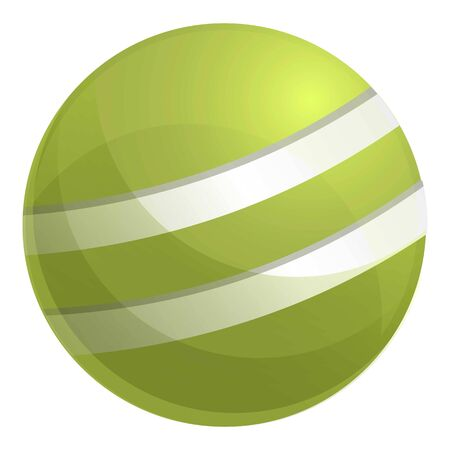 Croquet green ball icon. Cartoon of croquet green ball vector icon for web design isolated on white background Banque d'images - 124579167