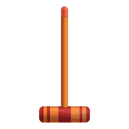Croquet wood mallet icon. Cartoon of croquet wood mallet vector icon for web design isolated on white background Banque d'images - 124579171