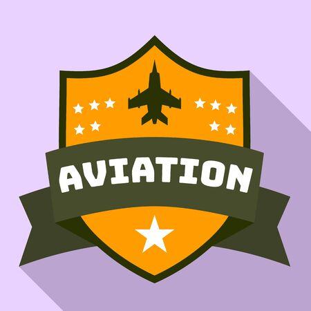 Aviation star logo. Flat illustration of aviation star vector logo for web design Banque d'images - 131536589