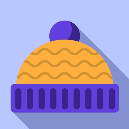 Winter hat icon. Flat illustration of winter hat vector icon for web design