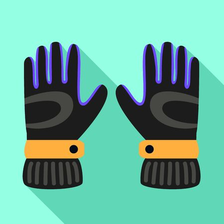 Ski gloves icon. Flat illustration of ski gloves vector icon for web design