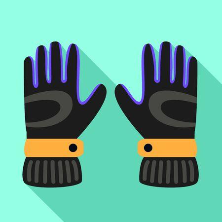 Ski gloves icon. Flat illustration of ski gloves vector icon for web design Illustration