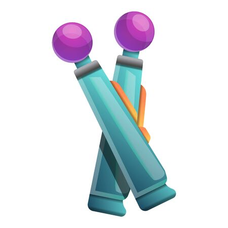 Virtual reality sticks icon. Cartoon of virtual reality sticks vector icon for web design isolated on white background