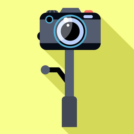 Action camera icon. Flat illustration of action camera vector icon for web design