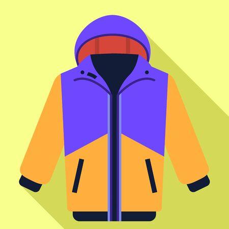 Ski jacket icon. Flat illustration of ski jacket vector icon for web design