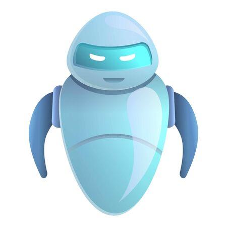 Icona di chatbot assistente. Cartoon di assistente chatbot icona vettoriali per il web design isolato su sfondo bianco Vettoriali