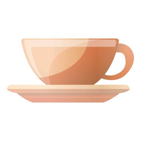 Coffee cup icon. Cartoon of coffee cup vector icon for web design isolated on white background