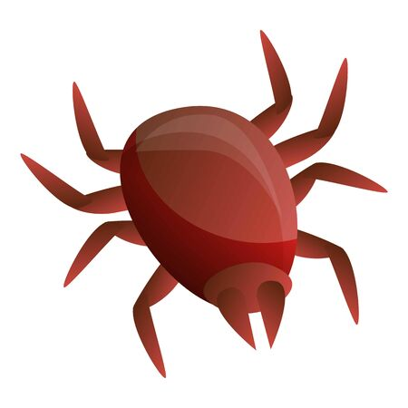 Insect mite icon. Cartoon of insect mite vector icon for web design isolated on white background Illustration