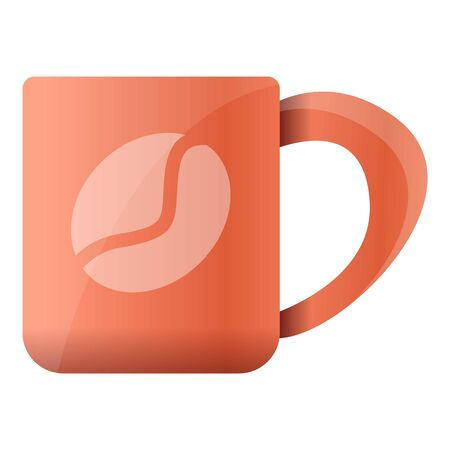 Coffee mug icon. Cartoon of coffee mug vector icon for web design isolated on white background Illustration