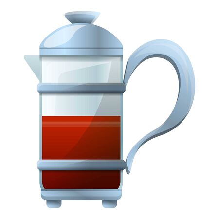 French press icon. Cartoon of french press vector icon for web design isolated on white background Illustration