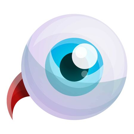 Human eyeball icon. Cartoon of human eyeball vector icon for web design isolated on white background 向量圖像