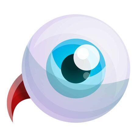 Human eyeball icon. Cartoon of human eyeball vector icon for web design isolated on white background Illustration