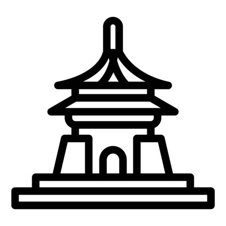 Vietnam temple icon. Outline vietnam temple vector icon for web design isolated on white background