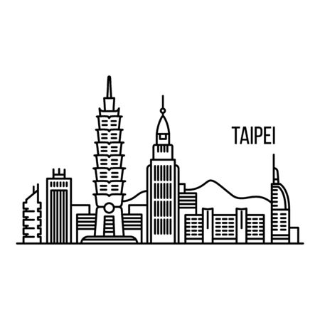 Taipei metropolis concept background. Outline illustration of taipei metropolis vector concept background for web design