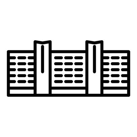 Business center building icon. Outline business center building vector icon for web design isolated on white background Ilustrace